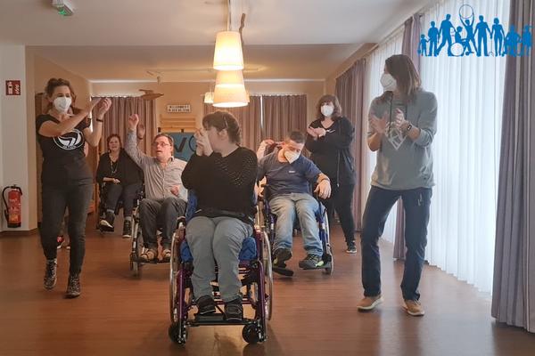 Körperbehinderte Allgäu tanzt Jerusalema